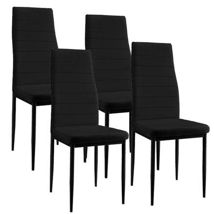 "Jedálenská stolička ,,New York"" sada 4 kusy v čiernom"
