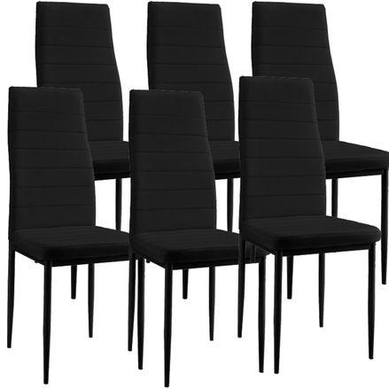 """Jedálenská stolička ,,New York"""" sada 6 kusov v čiernej"""