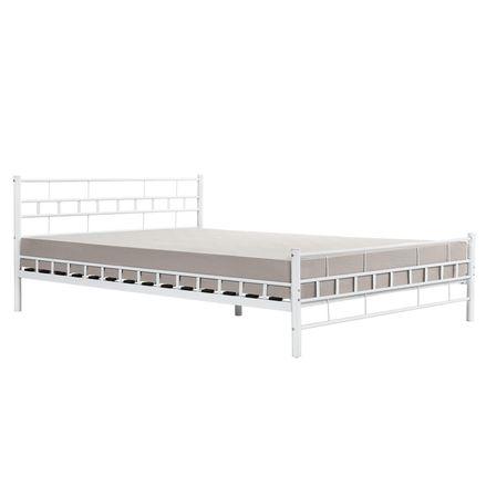 """Kovová posteľ ,,Malta"""" 140 x 200 cm - biela"""