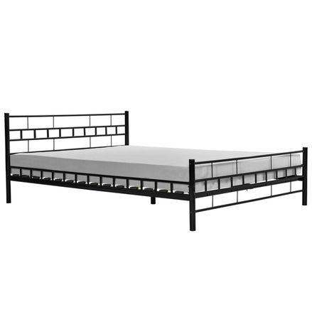 """Kovová posteľ ,,Toskánsko"""" 140 x 200 cm - čierna"""