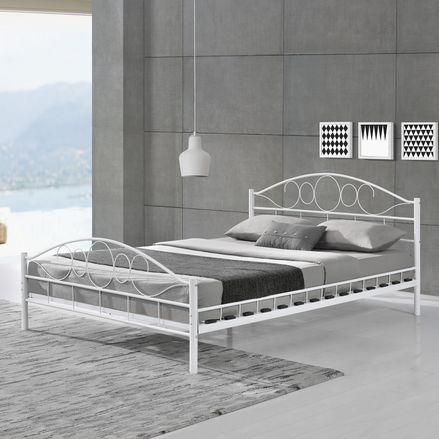 """Kovová posteľ ,,Toskánsko"""" 140 x 200 cm - biela"""