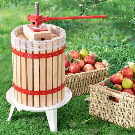 Mechanický lis na ovocie Juicy 18 litrový z masívneho dreva