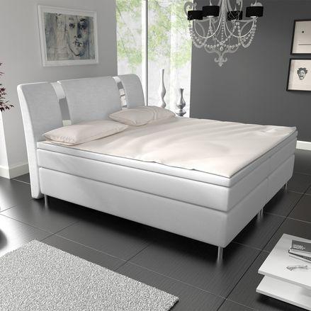 """Posteľ ,,Colorado"""" 180 x 200 cm s pružinovým matracom v bielej farbe"""