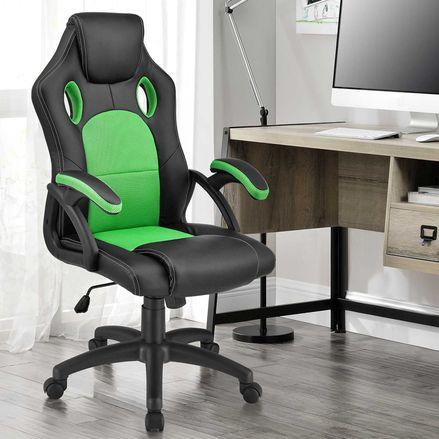 Koliesková kancelárska stolička Montreal (zelená)
