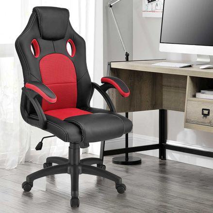 Koliesková kancelárska stolička Montreal (červená)