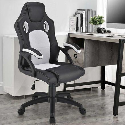 Koliesková kancelárska stolička Montreal (biela)