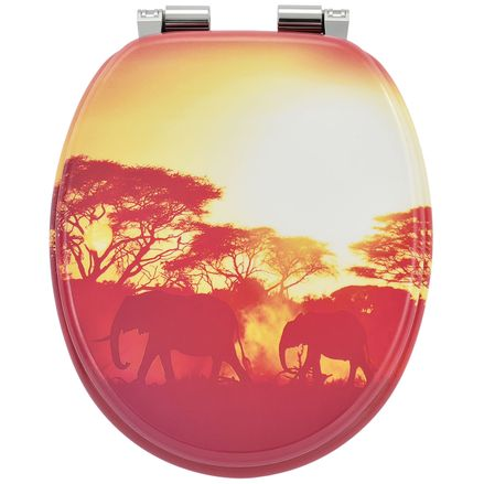 """Záchodová doska ,,Afrika"""" vyrobená z MDF s tichým zatváraním"""