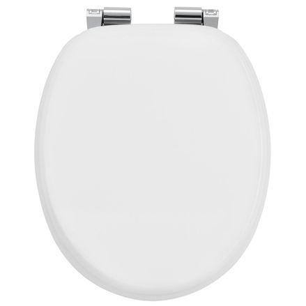 Záchodová doska Biela vyrobená z MDF s tichým zatváraním