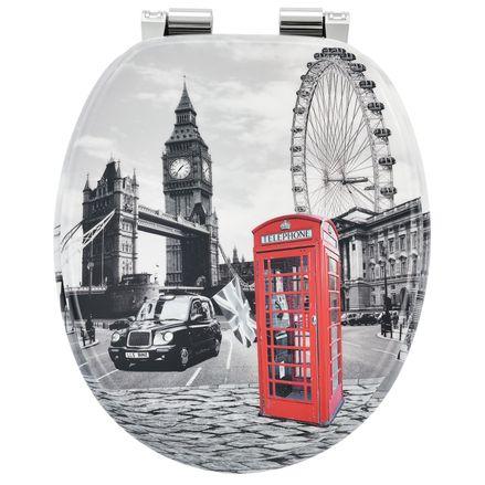 """Záchodová doska ,,London"""" vyrobená z MDF s tichým zatváraním"""