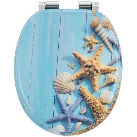 """Záchodová doska ,,Oceán"""" vyrobená z MDF s tichým zatváraním"""