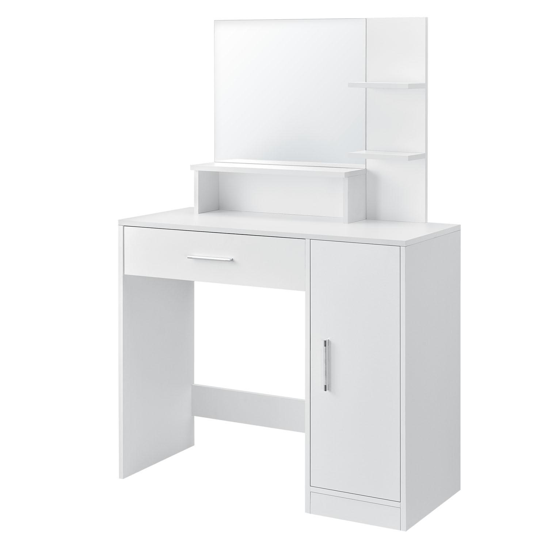 Eshopist Toaletný stolík Zoey so zrkadlom, biela