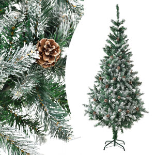 Umelý vianočný stromček - 180 cm, zelený so snehom