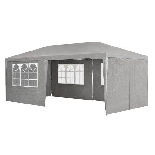 Záhradný stan 3x6m s bočnými stenami v tmavo šedej